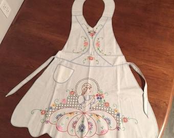 Vintage handmade/hand embroidered Apron