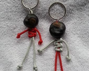 Keychain, Ohio State, Brutus Buckeye, Handmade, Para Cord Key Ring, Key Ring, Brutus