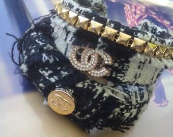 Set Tweed stackable bangles