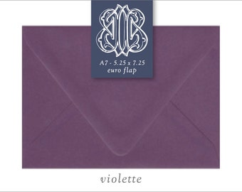 Violette Metallic | 10 Blank A7 Euro Envelopes