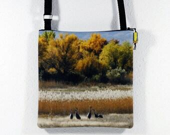 Cotton Purse with Bosque del Apache Fall Scenery Cranes Photo Print