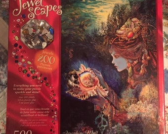 2006 RoseArt Collectible Josephine Wall Jewel Scapes 500 piece Puzzle w/ Included Jewel Embellishments Daughter of the Deep