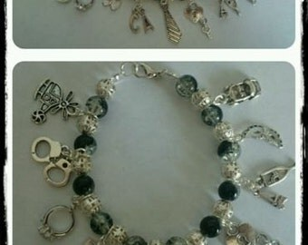50 shades of grey charm bracelet