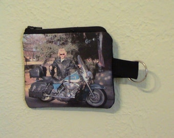 Custom Photo Coin Purse Keychain