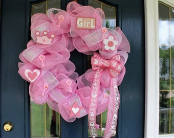 It's a Girl Wreath