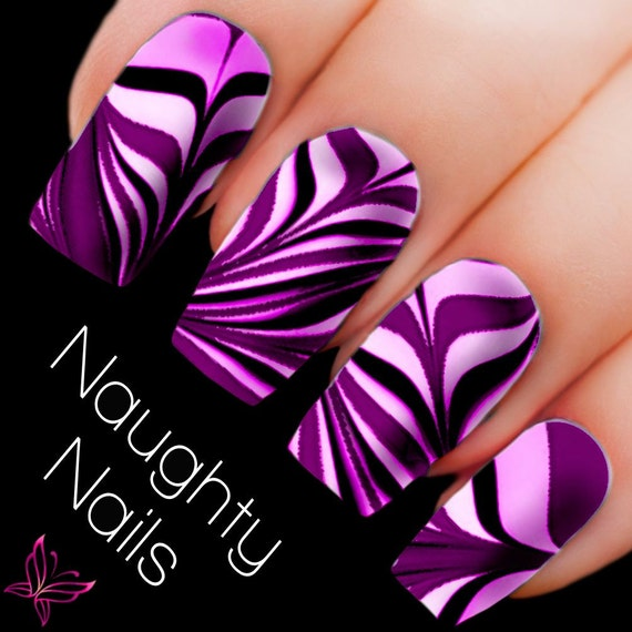 Sweet water marble nail decal diy nail tattoo transfer for Diy tattoo transfer paper