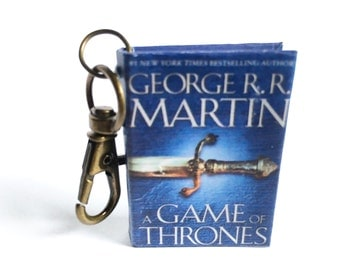 Miniature Game of Thrones Book Keychain/Necklace