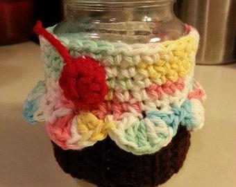 Cupcake Mason Jar Cozy