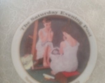TWO porcelain plates - Norman Rockwell series