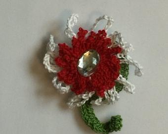 Crochet Brooch Pendant