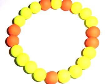 Neon Yellow/Orange Bracelet
