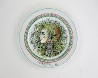 Coupelle en porcelaine de l'artiste Jean Carzou- 1992- France