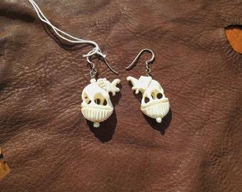 Bone Elephant Earrings