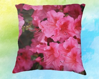Azalea Flowers Pillow Case