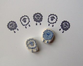 Sheep stamp, set of 2, year of sheep, animal, diy, farm stamp, chinese zodiac, scrapbooking, lamb, rubber stamp, wrapping, crafts
