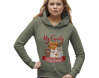 Women's My Family Has Paws Hoodie