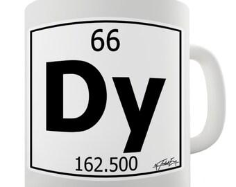 Periodic Table Of Elements Dy Dysprosium Ceramic Novelty Gift Mug