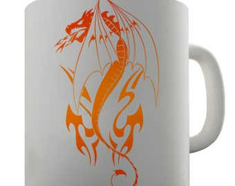 Dragon Tribal Tattoo Ceramic Funny Mug
