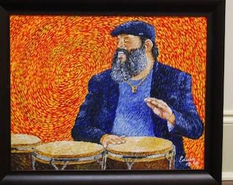 Poncho Sanchez Painting Acrylic