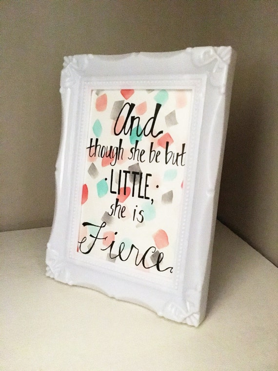 Custom Watercolor Quote With 5x7 Frame By Handmadesfromhillary