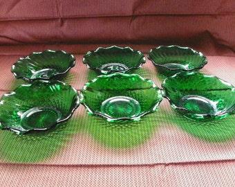 EMERALD GLASS BOWLS