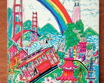 Vintage 1975 Illustrated Guide to San Francisco