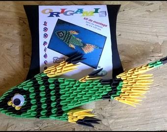 KIT ORIGAMI 3D   poisson/ fish / fisch
