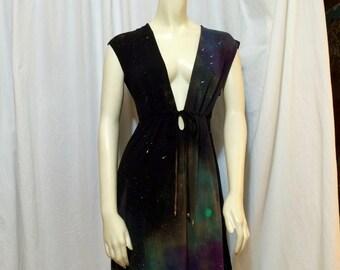 Women's Galaxy Dress, Galaxy Beach Cover-Up, Small/Medium