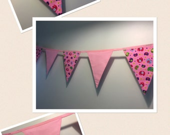 Nellie in Pink Bunting - Handmade - 3m