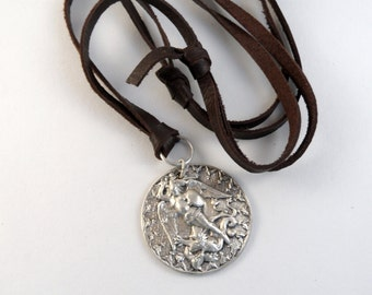 Michael and the Dragon Necklace