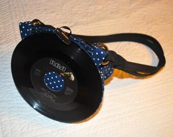 Handmade vinyl record purse 7 inch