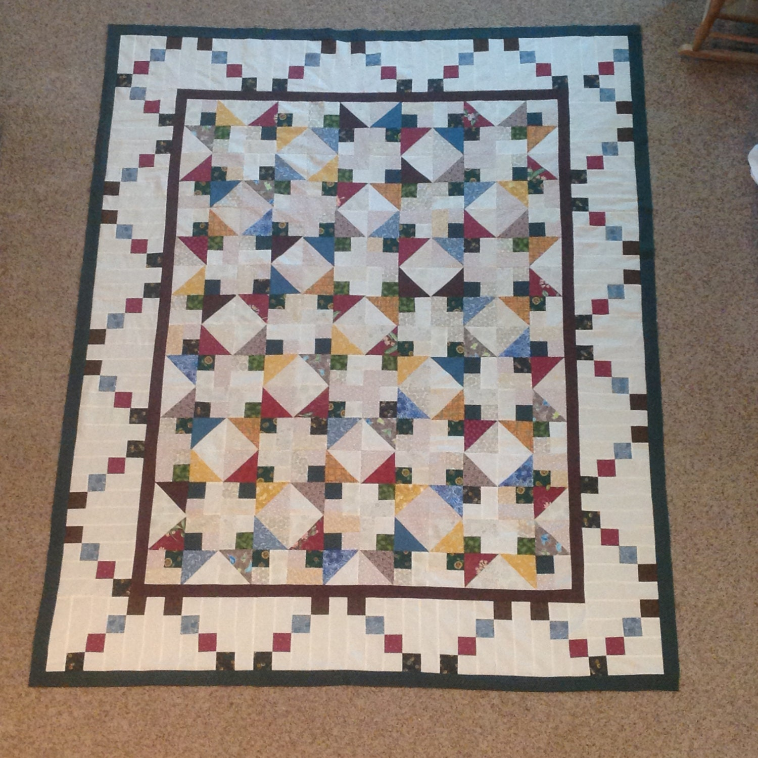 28 twin bed size quilt handquilted twin bed size quilt in s