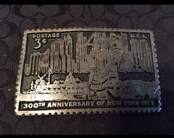 300 anniversary of NYC postage stamp