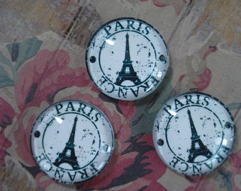 25mm - Vintage Inspired Paris, Eiffel Tower Cabochon