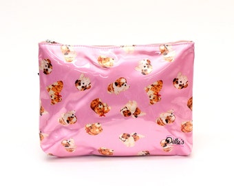 Puppy Love Cosmetic Bag Case Makeup Travel Toiletries