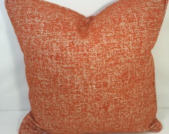"20"" SQ. Harlequin Etch: Burnt Orange Pillow COVER"