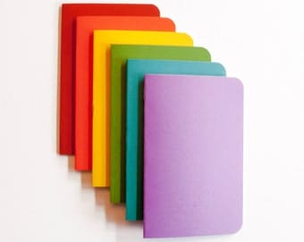 Rainbow Pocket Notebooks (6 count)