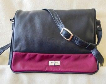 Large Black and Maroon Handbag