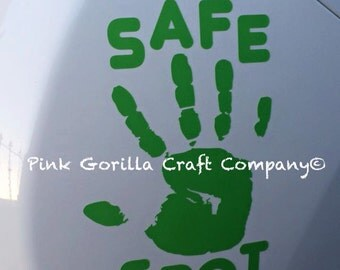 Safe Spot Car Decal / Car Safety Sticker