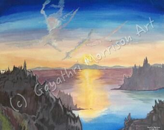 "Signed Print of ""Ocean Sunrise"""