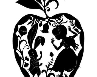Alice in Wonderland- Vinyl Decal - Multiple colors and sizes to choose from!!!