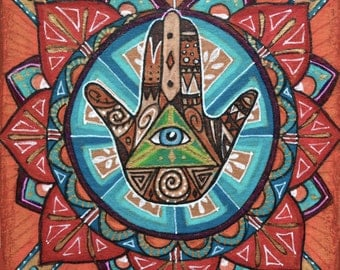 Hand of Miriam, Hand of Fatima, Evil Eye, Hamsa Sticker