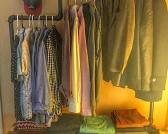 Industrail Clothing Rack - Garment Rack - Loft Floating Closet