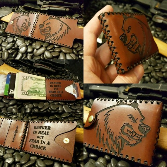 Danger is Real but Fear is a Choice Premium leather wallet