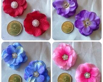 Dainty Floral Hair Clips
