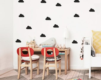 Black clouds wall stickers