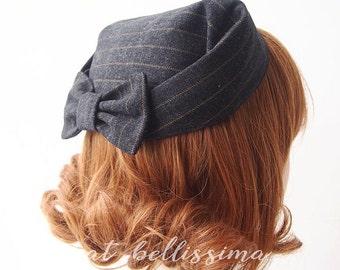 SALE black 1950's~1960's Vintage Style  hat  Women's hat hatbellissima