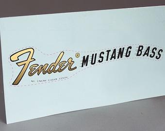 1969 Fender Mustang Bass precut water slide decal headstock restoration