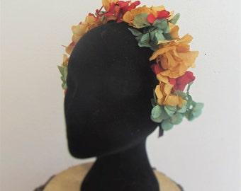 """Alejandra"" flowers headband"