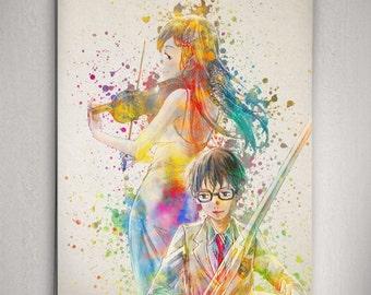 Shigatsu Wa Kimi No Uso Poster Your Lie In April Anime